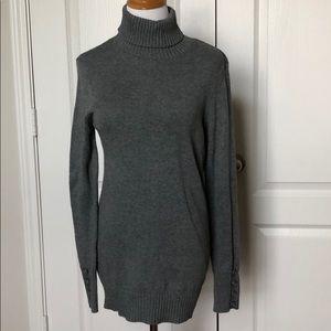 Loft gray turtleneck tunic sweater dress